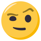 Face With Raised Eyebrow on EmojiOne 3.1