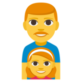 Family: Man, Girl on EmojiOne 3.1