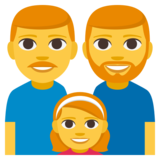 Family: Man, Man, Girl on JoyPixels 3.1
