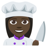 Woman Cook: Dark Skin Tone on JoyPixels 3.1