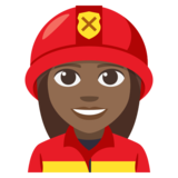 Woman Firefighter: Medium-Dark Skin Tone on JoyPixels 3.1