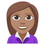 Woman Office Worker: Medium Skin Tone on JoyPixels 3.1