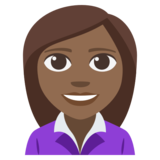 Woman Office Worker: Medium-Dark Skin Tone on JoyPixels 3.1