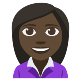 Woman Office Worker: Dark Skin Tone on JoyPixels 3.1
