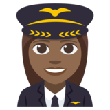 Woman Pilot: Medium-Dark Skin Tone on JoyPixels 3.1
