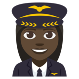 Woman Pilot: Dark Skin Tone on JoyPixels 3.1