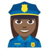 Woman Police Officer: Medium-Dark Skin Tone on JoyPixels 3.1