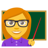 Woman Teacher on EmojiOne 3.1
