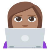 Woman Technologist: Medium Skin Tone on EmojiOne 3.1