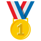 1st Place Medal on JoyPixels 3.1