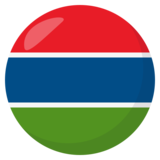Flag: Gambia on JoyPixels 3.1