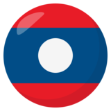 Flag: Laos on JoyPixels 3.1
