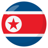 Flag: North Korea on JoyPixels 3.1