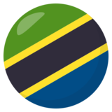 Flag: Tanzania on JoyPixels 3.1