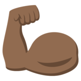 Flexed Biceps: Medium-Dark Skin Tone on JoyPixels 3.1