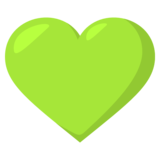 Green Heart on EmojiOne 3.1