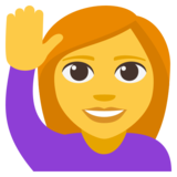 Person Raising Hand on JoyPixels 3.1