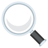 Magnifying Glass Tilted Left on JoyPixels 3.1