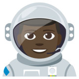Man Astronaut: Dark Skin Tone on EmojiOne 3.1