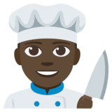 Man Cook: Dark Skin Tone on JoyPixels 3.1