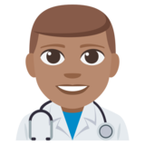 Man Health Worker: Medium Skin Tone on JoyPixels 3.1