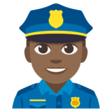 Man Police Officer: Medium-Dark Skin Tone on JoyPixels 3.1