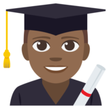 Man Student: Medium-Dark Skin Tone on EmojiOne 3.1