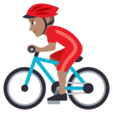 Man Biking: Medium Skin Tone on JoyPixels 3.1