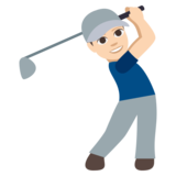 Man Golfing: Light Skin Tone on EmojiOne 3.1