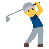 Man Golfing on JoyPixels 3.1