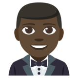 Man in Tuxedo: Dark Skin Tone on JoyPixels 3.1