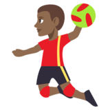 Man Playing Handball: Medium-Dark Skin Tone on JoyPixels 3.1