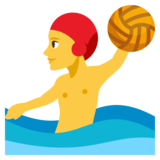 Man Playing Water Polo on JoyPixels 3.1