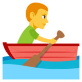Man Rowing Boat on JoyPixels 3.1