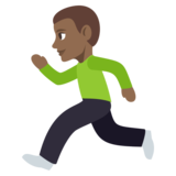 Man Running: Medium-Dark Skin Tone on JoyPixels 3.1