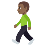 Man Walking: Medium-Dark Skin Tone on JoyPixels 3.1