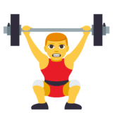 Man Lifting Weights on JoyPixels 3.1