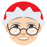 Mrs. Claus: Light Skin Tone on JoyPixels 3.1