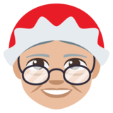 Mrs. Claus: Medium-Light Skin Tone on JoyPixels 3.1