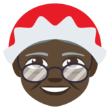 Mrs. Claus: Dark Skin Tone on JoyPixels 3.1