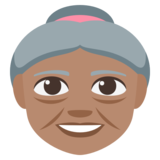 Old Woman: Medium Skin Tone on JoyPixels 3.1