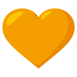 Orange Heart on JoyPixels 3.1