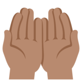 Palms Up Together: Medium Skin Tone on EmojiOne 3.1