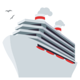 Passenger Ship on JoyPixels 3.1