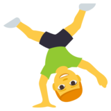 Person Cartwheeling on JoyPixels 3.1