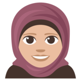 Woman with Headscarf: Medium-Light Skin Tone on JoyPixels 3.1