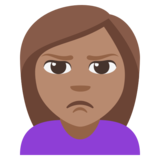 Person Pouting: Medium Skin Tone on JoyPixels 3.1