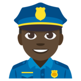 Police Officer: Dark Skin Tone on JoyPixels 3.1