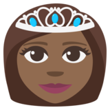 Princess: Medium-Dark Skin Tone on JoyPixels 3.1