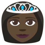 Princess: Dark Skin Tone on JoyPixels 3.1
